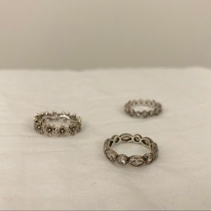 3 Pandora Rings set size 6 rings